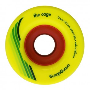 Orangatang The Cage 73mm 86a Yellow longboard wheels