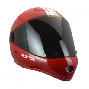 Predator DH-6 Performance downhill helmet Red White-Stripe