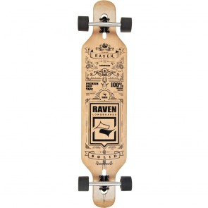 "Raven Solid 41.5"" drop-through longboard complete"