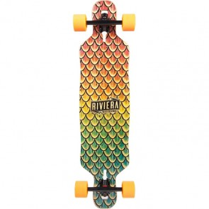 "Riviera Beta Fish 38"" drop-through longboard complete"