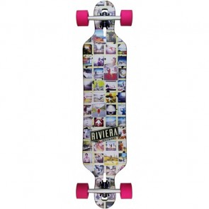 "Riviera Mosaic 41.3"" drop-through longboard complete"