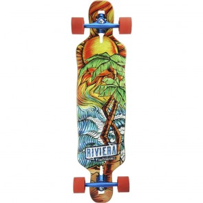 "Riviera Twisted Palms 38"" drop-through longboard complete"
