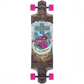 "Santa Cruz Death Pool 38.38"" dropthrough longboard complete"