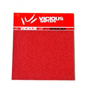 Vicious griptape 10 inch Red (3 sheets)